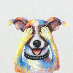 schilderij hond, 50x50cm