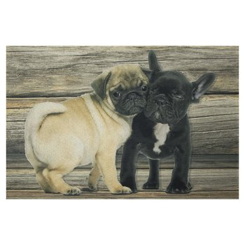 deurmat Mops-Franse Bulldog