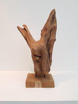 object hout V op voet