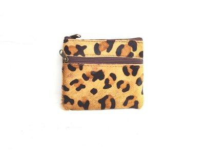 portemonnee met dierenprint,luipaard portemonnee,portemonnee dierenvacht,bruine portemonnee